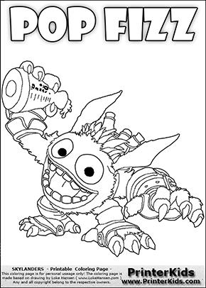 skylanders coloring pages pop fizz skylanders pop fizz coloring pages tgkrco skylanders pop coloring fizz pages