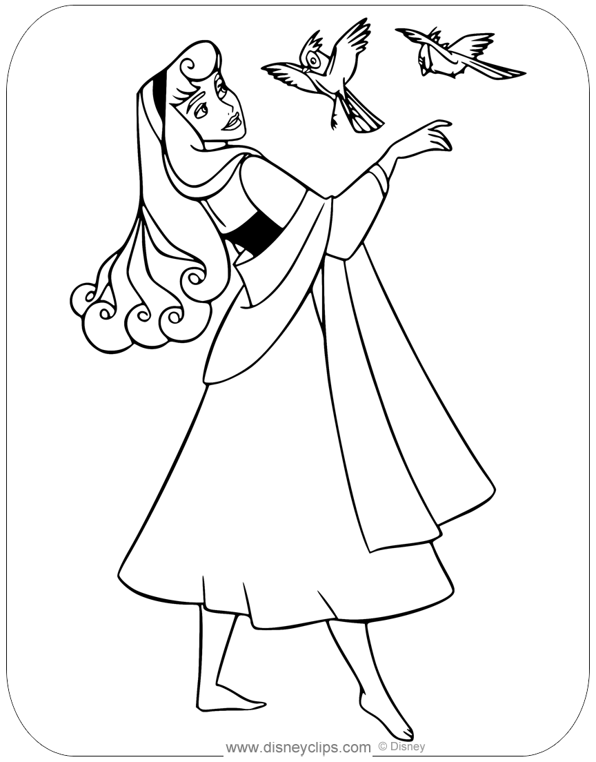 sleeping beauty coloring page aurora with prince phillip coloring pages hellokidscom beauty sleeping page coloring