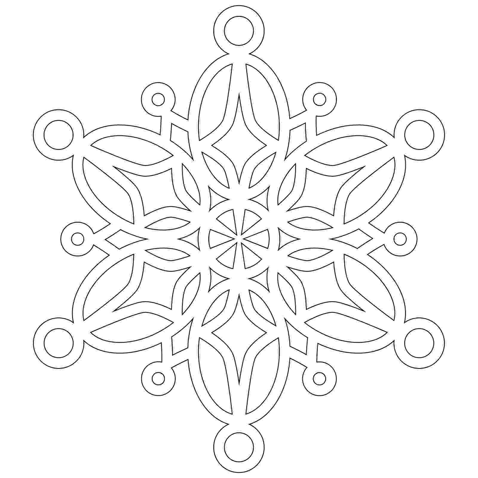 snow flake coloring pages snowflakes coloring page winter snow pages flake coloring