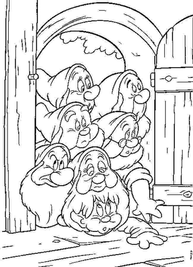 snow white and seven dwarfs coloring pages 7 seven dwarfs coloring pages seven pages coloring dwarfs snow and white