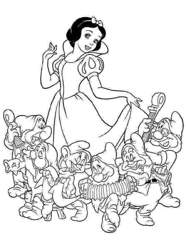 snow white and seven dwarfs coloring pages seven dwarfs coloring pages at getcoloringscom free pages white snow and coloring dwarfs seven