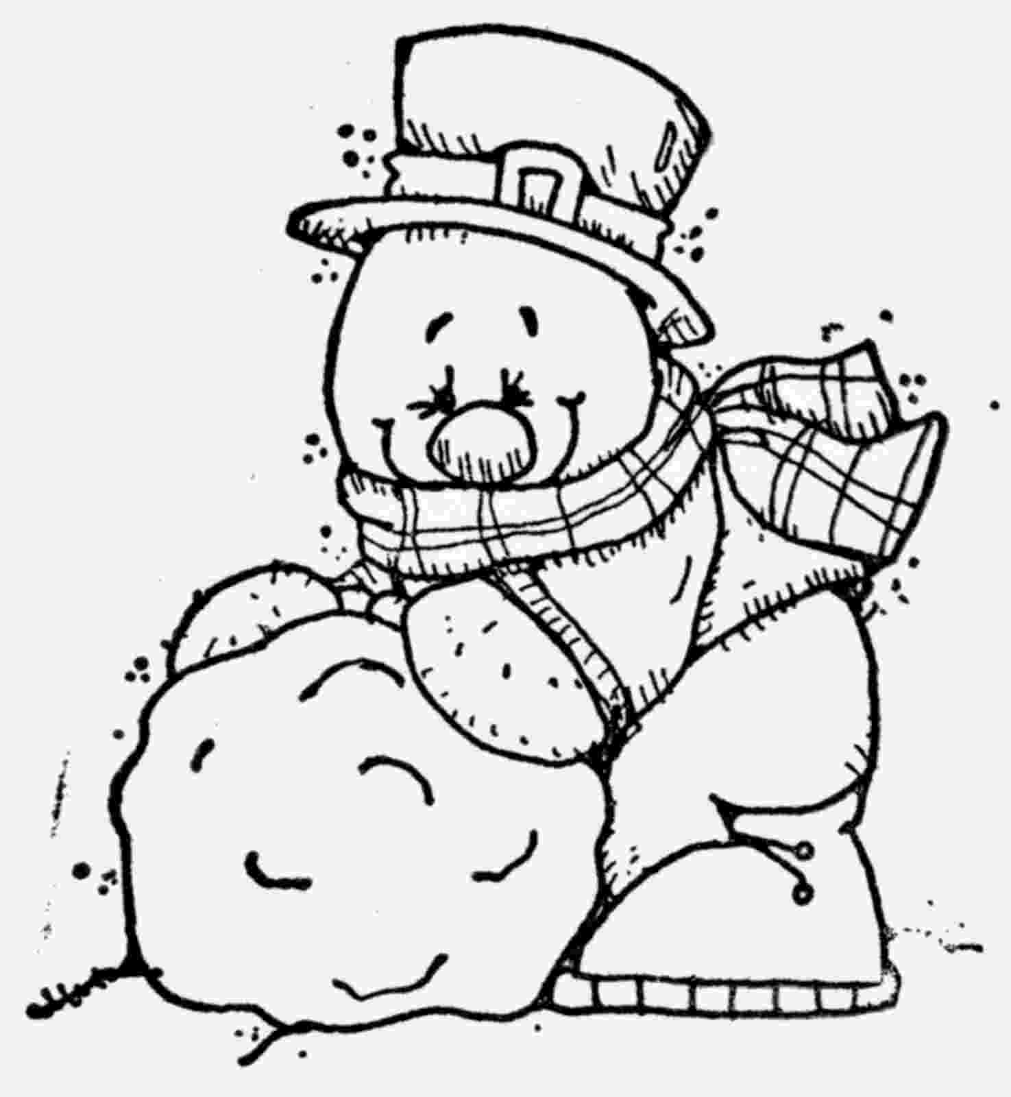 snowmancoloring sheets cute snowmen free printable coloring pages oh my fiesta snowmancoloring sheets