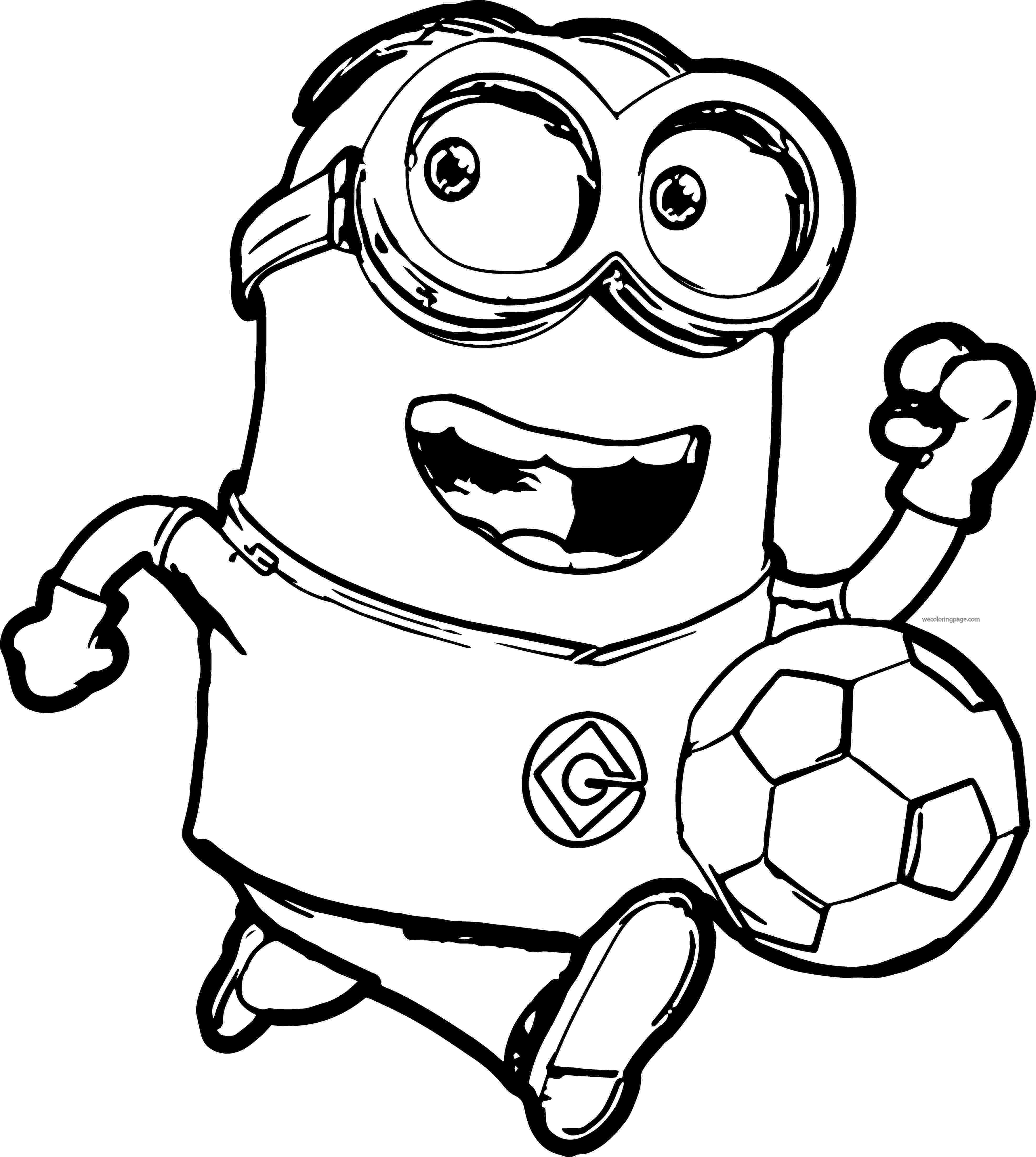 soccer coloring pages minion soccer player coloring pages wecoloringpage coloring soccer pages