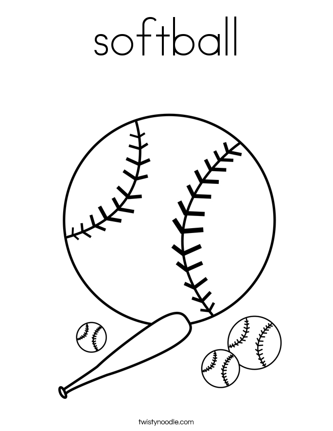 softball coloring pictures softball coloring page twisty noodle pictures softball coloring