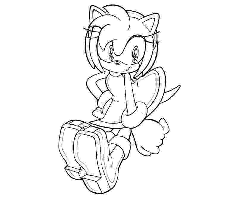 sonic amy coloring pages amy chronic coloring page wecoloringpagecom coloring sonic amy pages