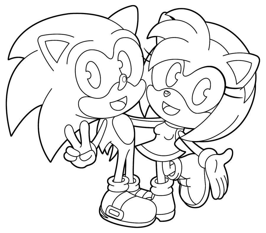 sonic amy coloring pages amy sonic coloring pages at getcoloringscom free coloring sonic pages amy