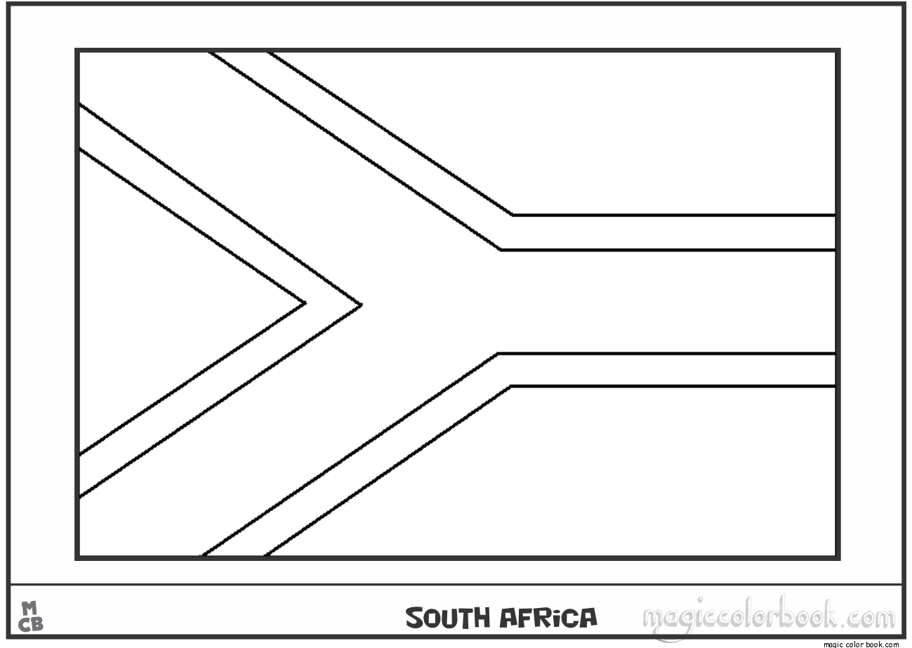 south african flag coloring page colouring book of flags sub saharan africa flag south page coloring african