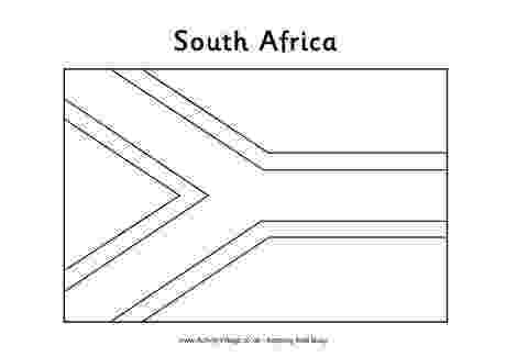 south african flag colouring picture south africa flag outline south african flag africa picture flag colouring south african