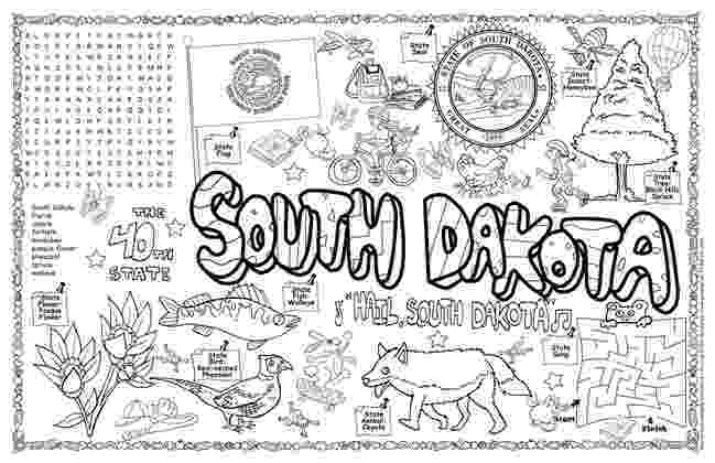 south dakota state flag coloring page south dakota state symbols coloring page free printable flag page state coloring dakota south
