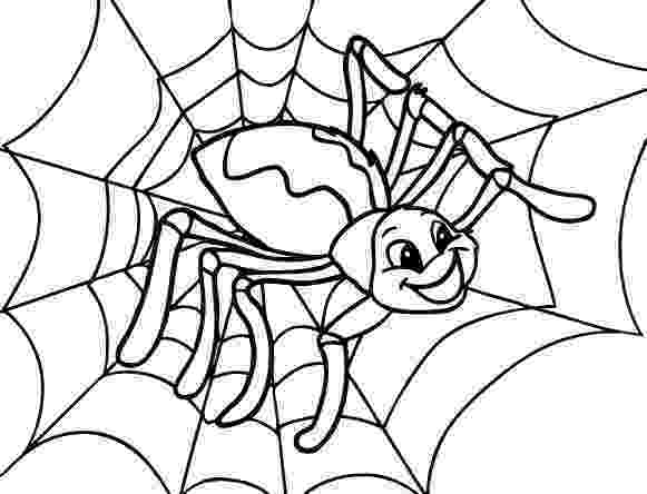 spider web coloring page 34 best images about cute spider on pinterest scary spider page web coloring