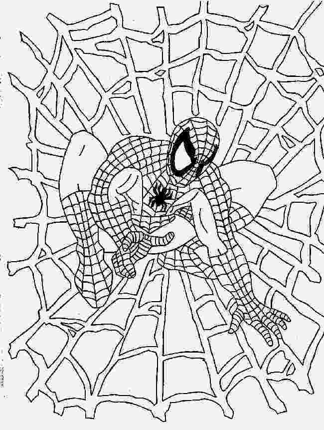 spiderman coloring sheet spiderman cartoon drawing at getdrawingscom free for coloring spiderman sheet