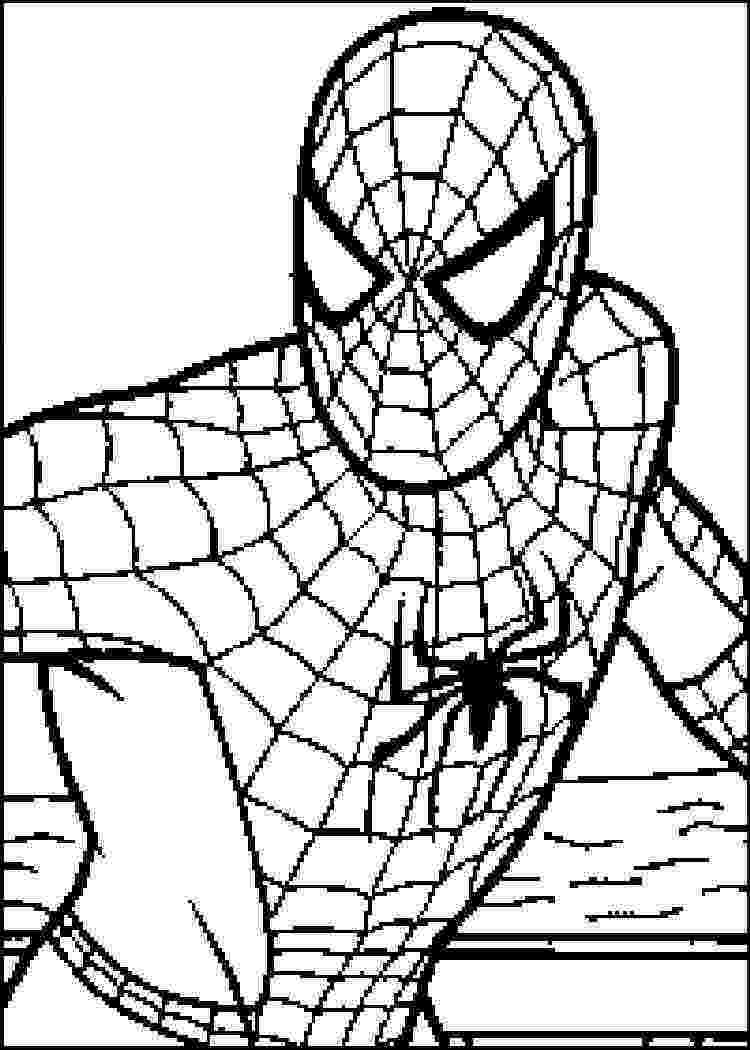spiderman to color coloring page spiderman 3 coloring pages 4 spiderman color to