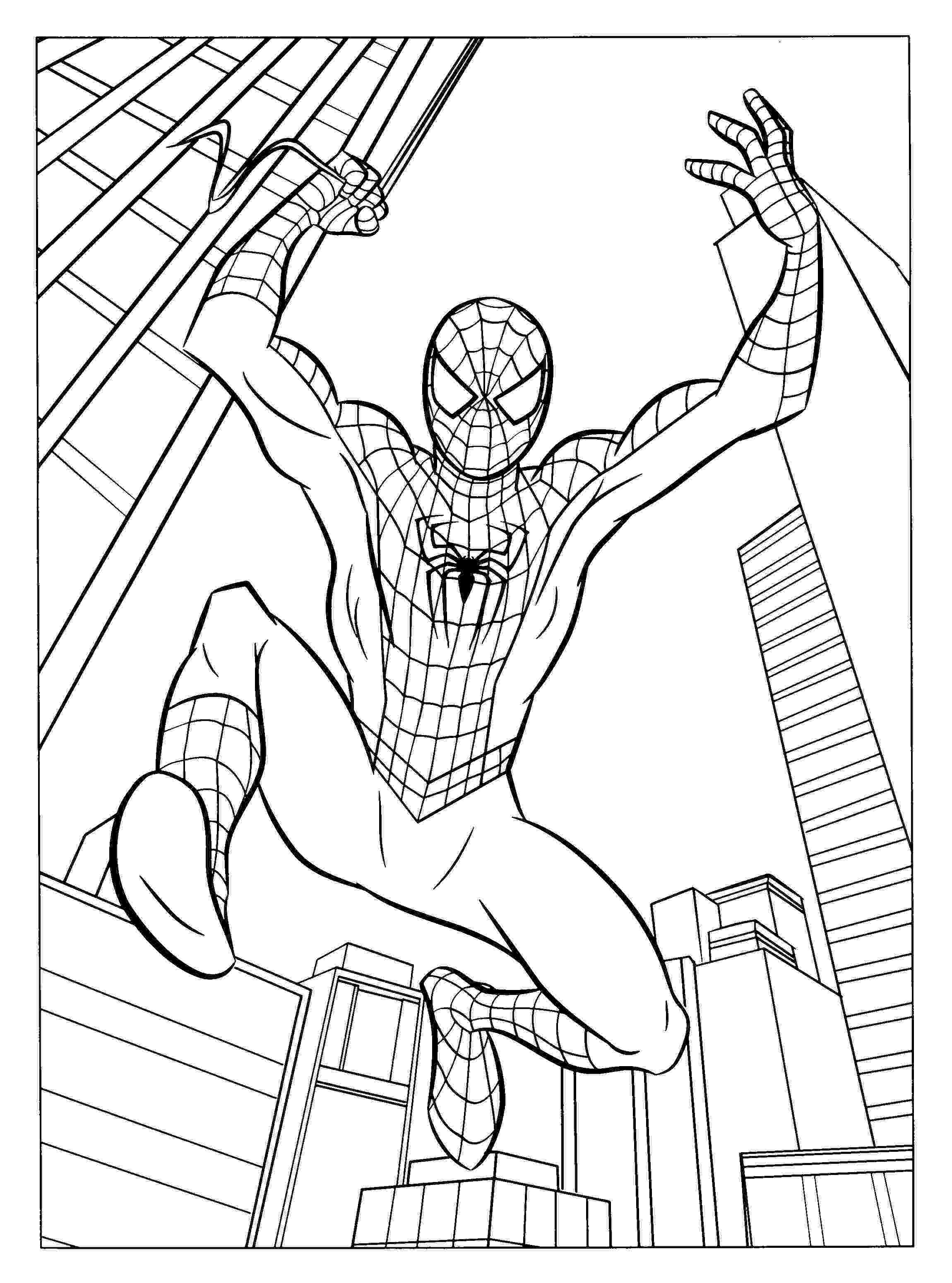 spiderman to color high quality spiderman colouring pages 28 to print for free color to spiderman