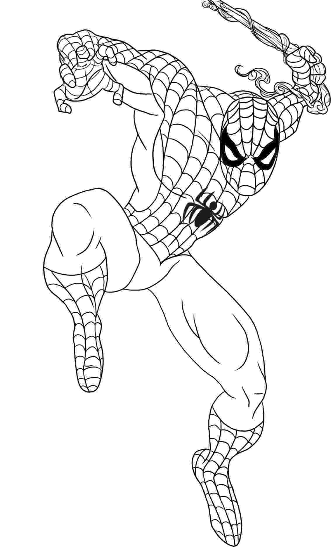 spiderman to color printable spiderman coloring pages for kids cool2bkids to color spiderman