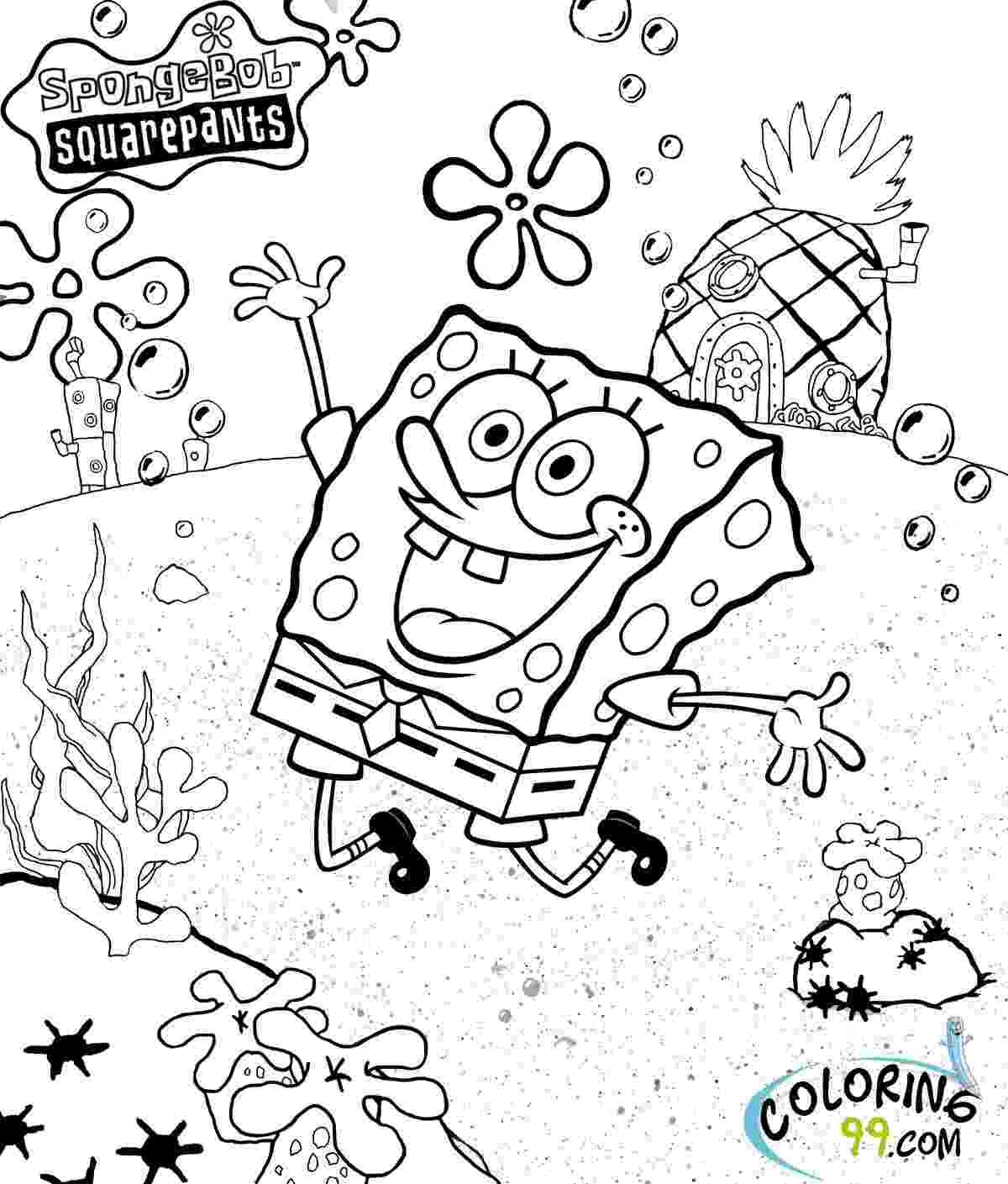 spongebob coloring book august 2013 team colors spongebob book coloring