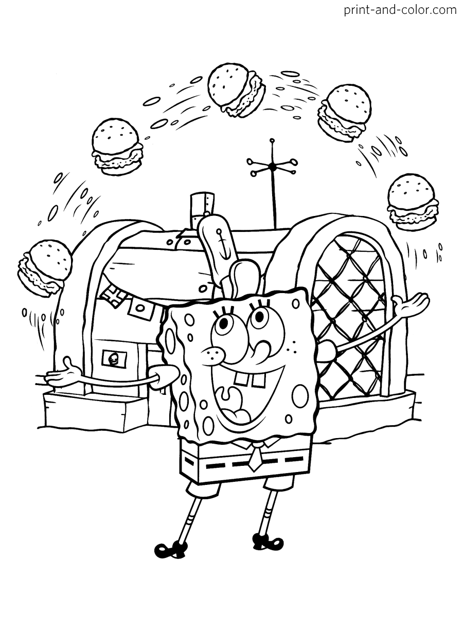 spongebob coloring book download spongebob squarepants coloring page 03 coloring page central book coloring spongebob download