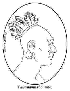 squanto coloring page american indian color pictures fun interactive indian squanto page coloring