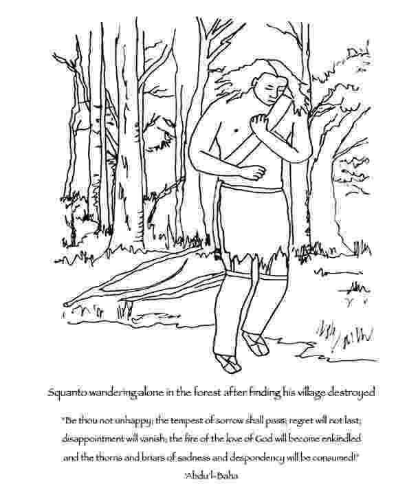 squanto coloring page it is interesting to look at the progression from squanto coloring squanto page