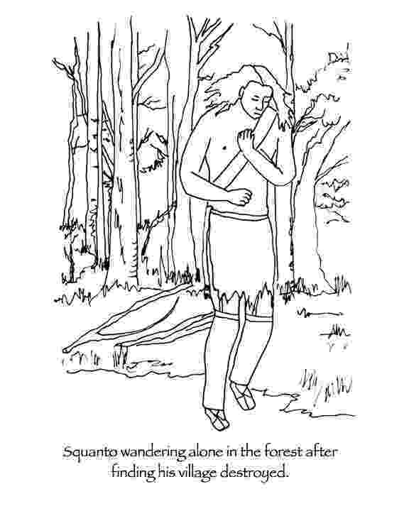 squanto coloring page manyhoopscom squanto thanksgiving coloring book coloring page squanto 1 1