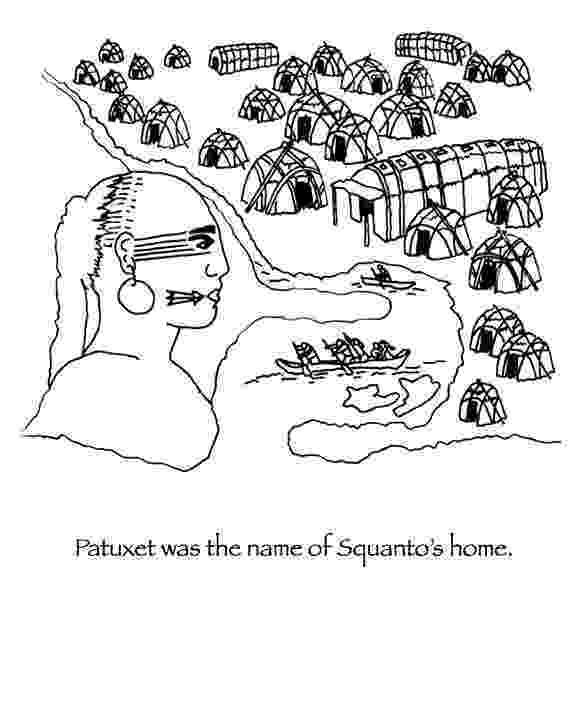 squanto coloring page manyhoopscom squanto thanksgiving coloring book squanto page coloring