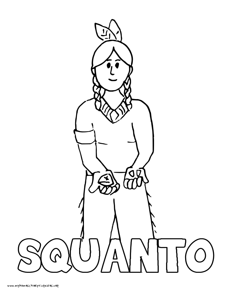 squanto coloring page my homeschool printables vol 3 coloring book download coloring page squanto