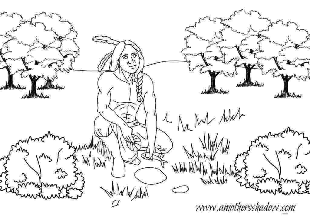 squanto coloring page squanto a true hero a mothers shadow squanto coloring page