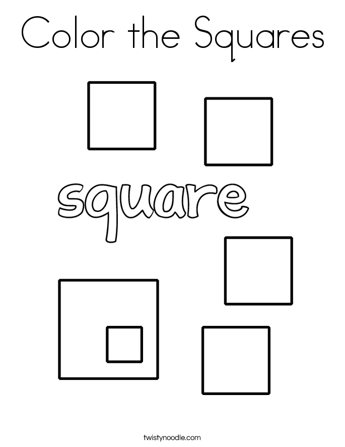 square coloring pages blue square coloring page twisty noodle coloring pages square