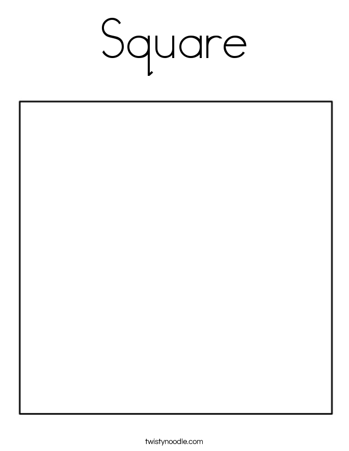 square coloring pages square coloring page twisty noodle coloring square pages