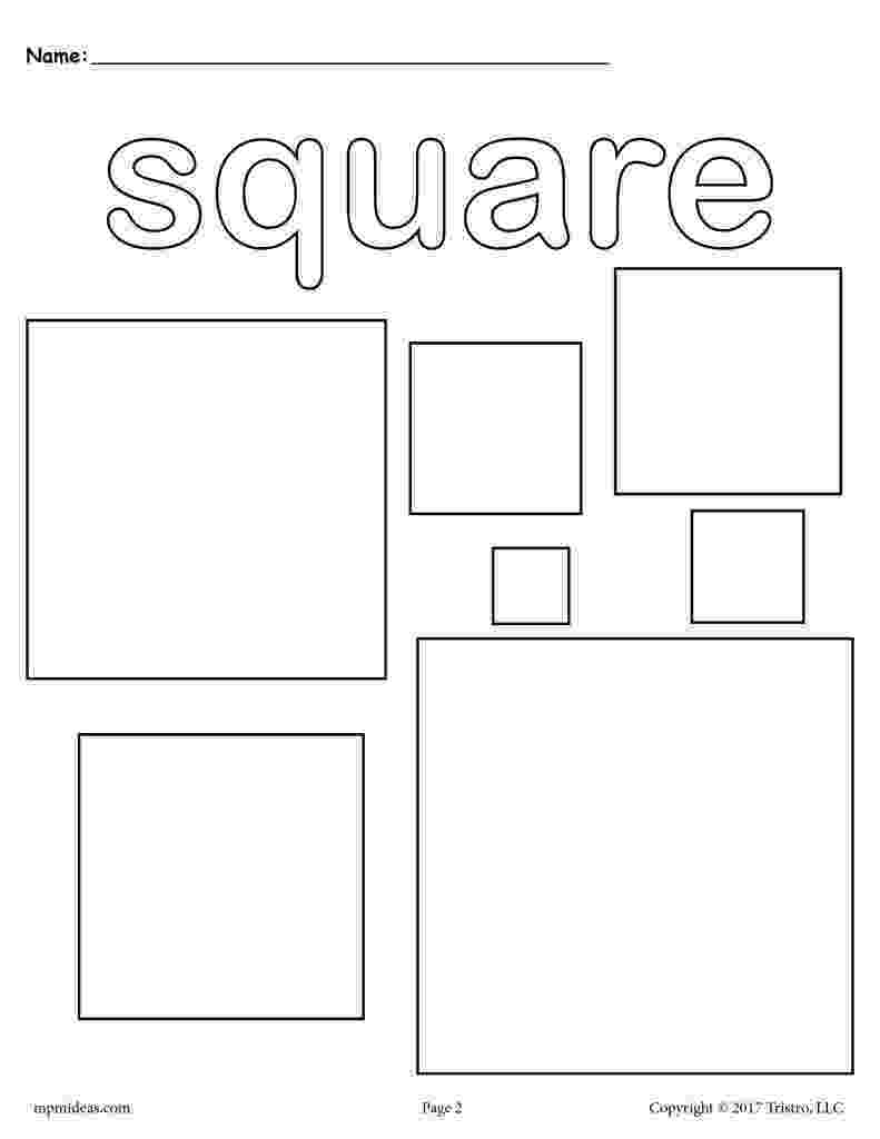 square coloring pages squares coloring page square shape worksheet supplyme pages square coloring