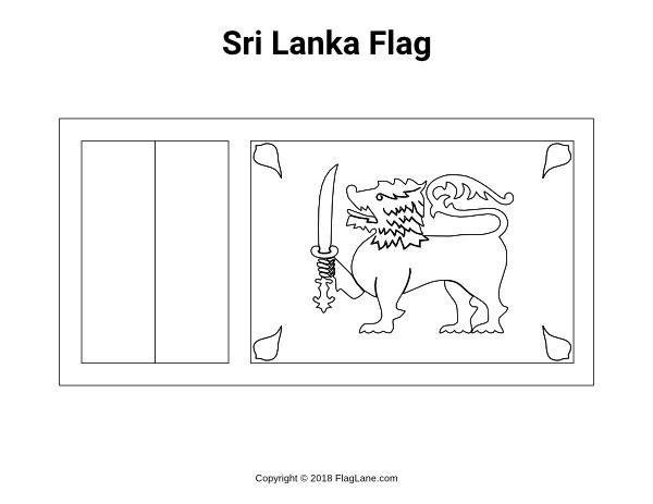 sri lanka flag coloring page sri lanka flag coloring page coloring sri flag page lanka