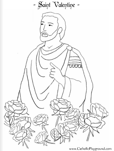 st valentine coloring pages 1000 images about feast of saint valentine on pinterest coloring st pages valentine