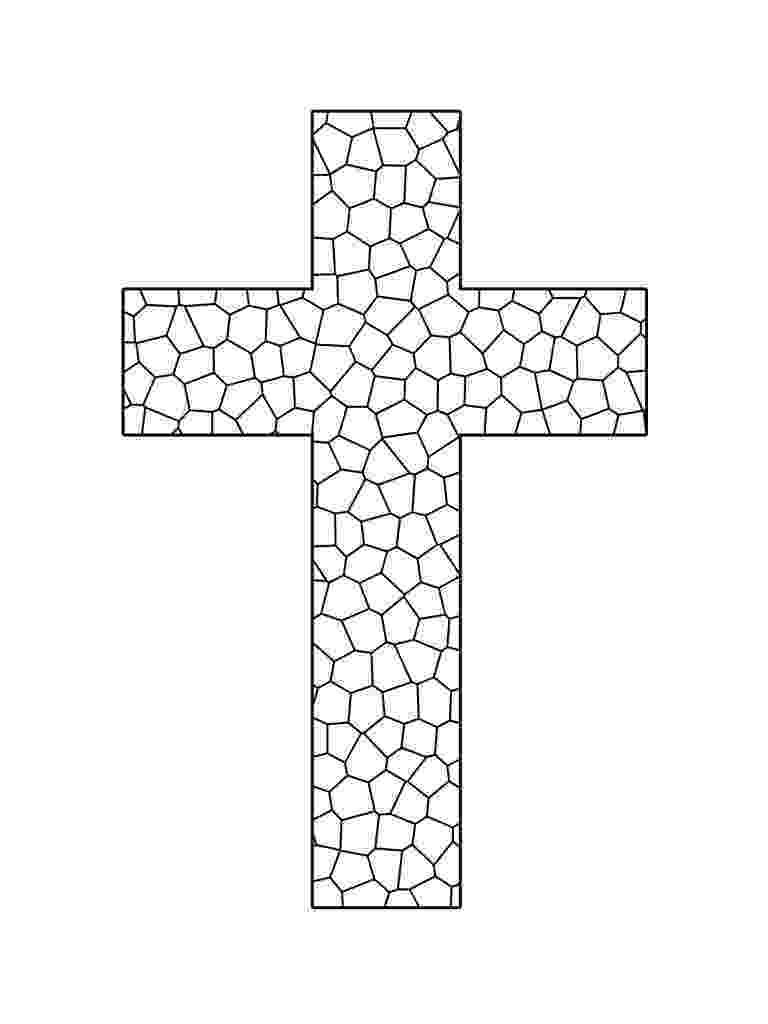 stained glass cross coloring page cross stained glass window coloring page free printable cross coloring page stained glass