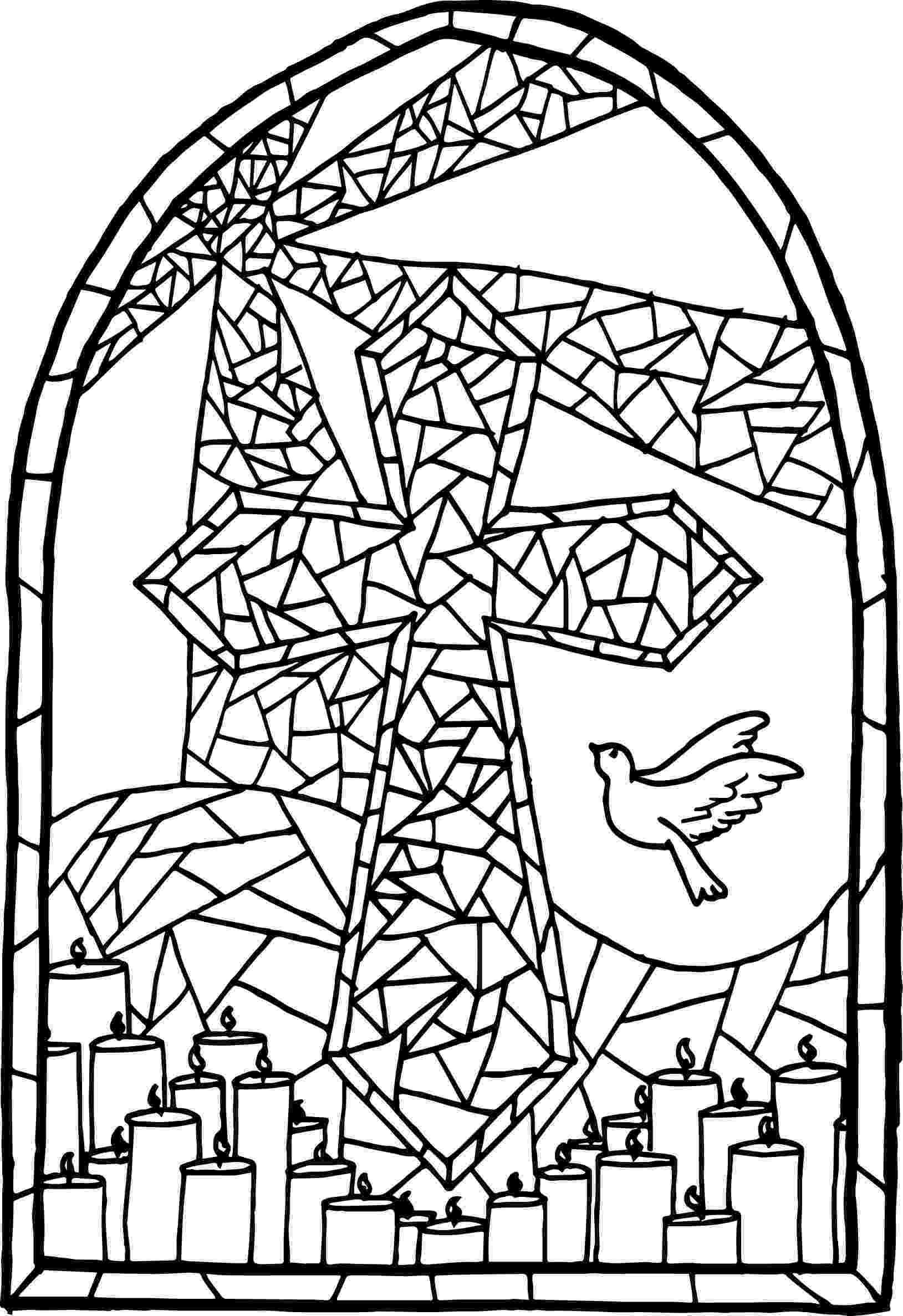 stained glass cross coloring page cross stained glass window colouring poster glass cross page coloring stained