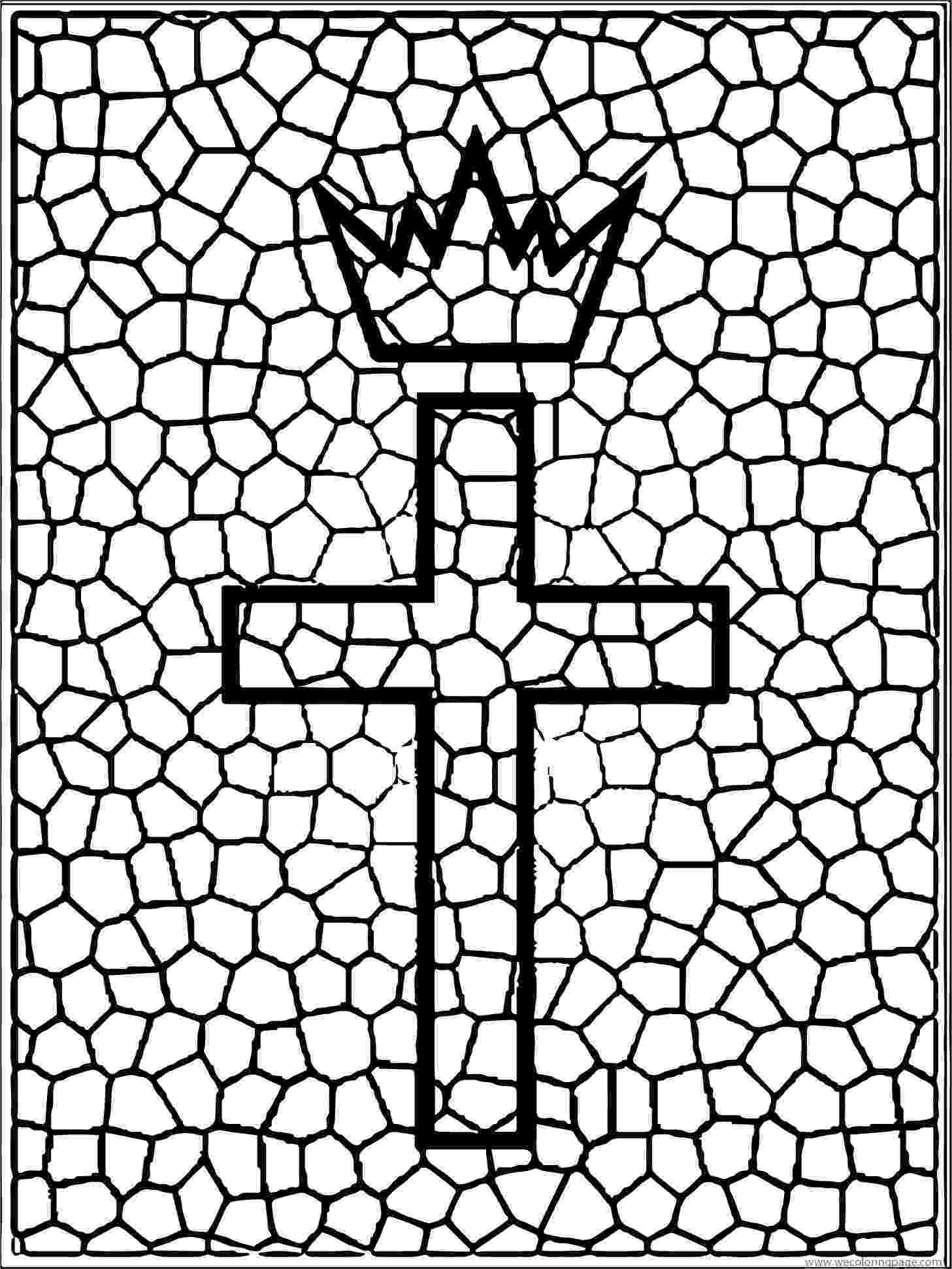 stained glass cross coloring page stained glass cross coloring page at getcoloringscom coloring stained glass page cross