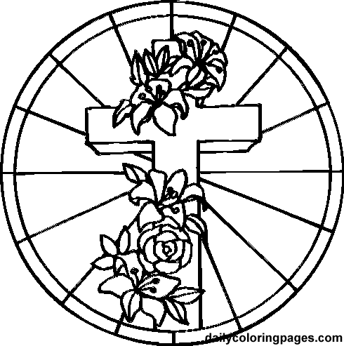 stained glass cross coloring page stained glass cross coloring page at getcoloringscom page cross coloring glass stained
