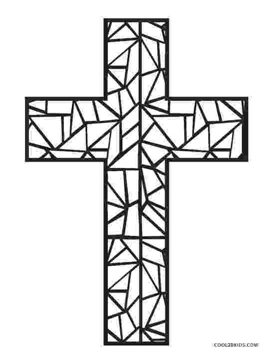 stained glass cross coloring page stained glass cross coloring page at getcoloringscom page glass coloring cross stained