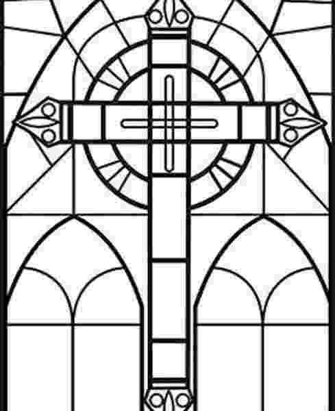 stained glass cross coloring page stained glass cross printable coloring sheet cross cross glass stained coloring page