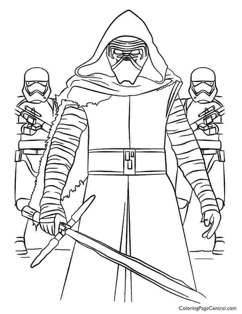 star wars free coloring pages star wars kylo ren and first order coloring page lego wars free coloring pages star
