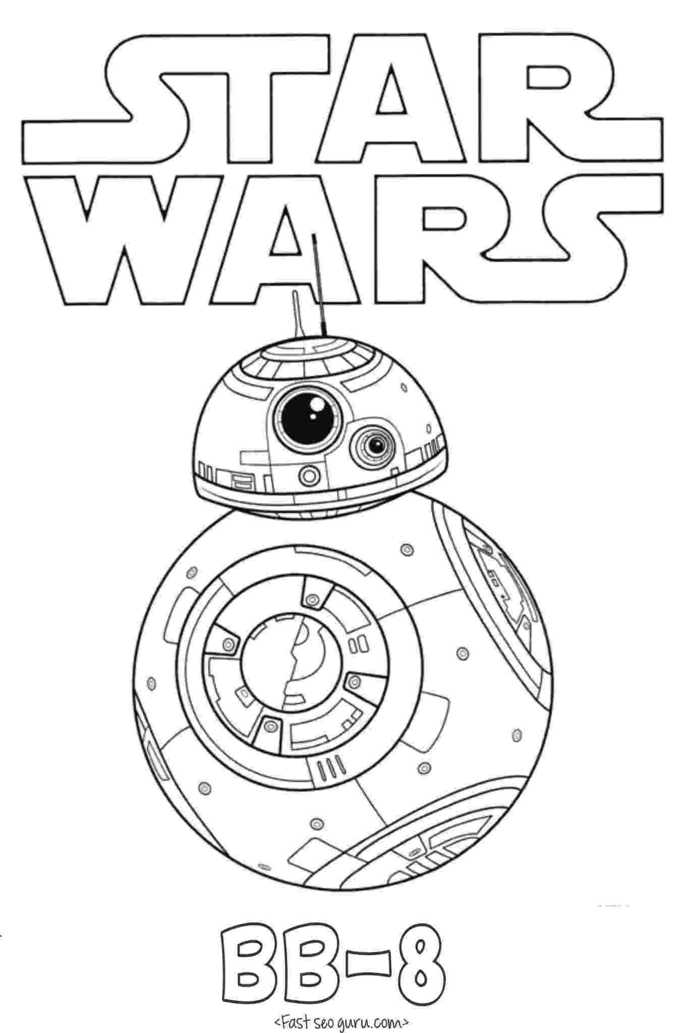 star wars printable coloring pages printable star wars the force awakens bb 8 coloring pages pages coloring printable star wars