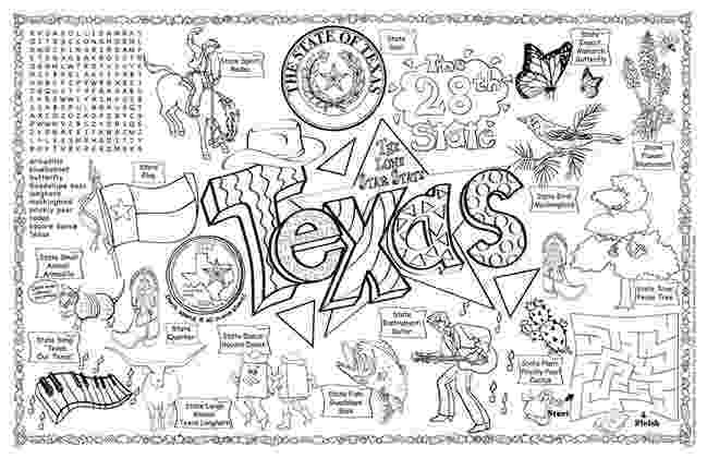 state of texas symbols coloring pages 9 best images of worksheet about texas texas symbols state texas coloring symbols pages of