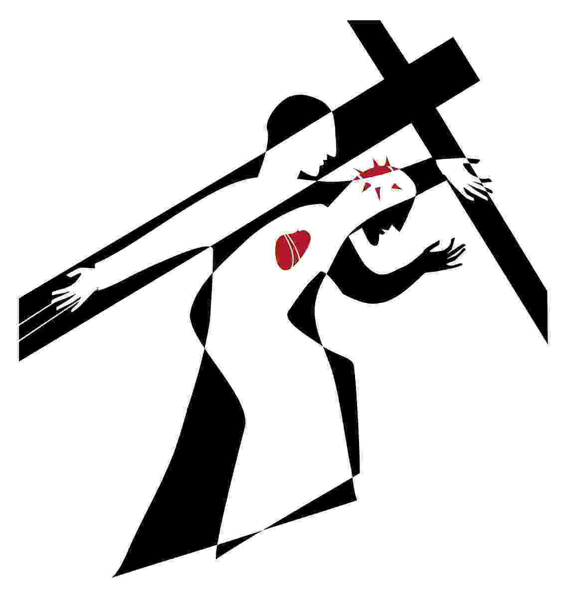 stations of the cross clip art jesus christ carrying cross image vector free download art clip cross of stations the