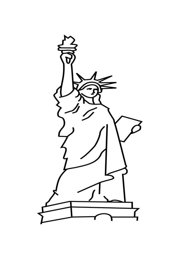 statue of liberty coloring page free printable statue of liberty coloring pages for kids statue page liberty of coloring