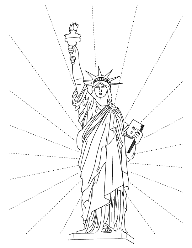 statue of liberty coloring page statue of liberty coloring pages free printable pictures statue coloring page liberty of