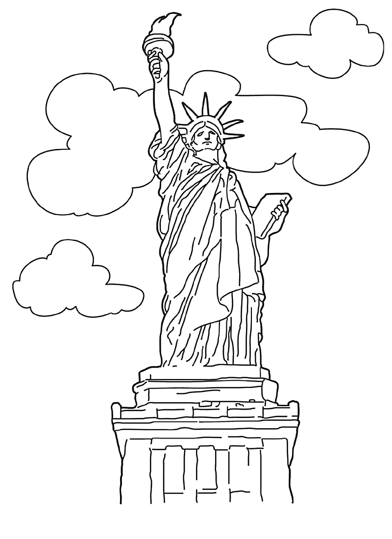 statue of liberty coloring page statue of liberty coloring pages hellokidscom statue of page coloring liberty
