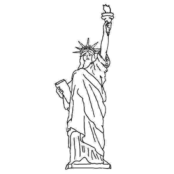 statue of liberty coloring page statue of liberty line drawing at getdrawingscom free coloring page liberty statue of