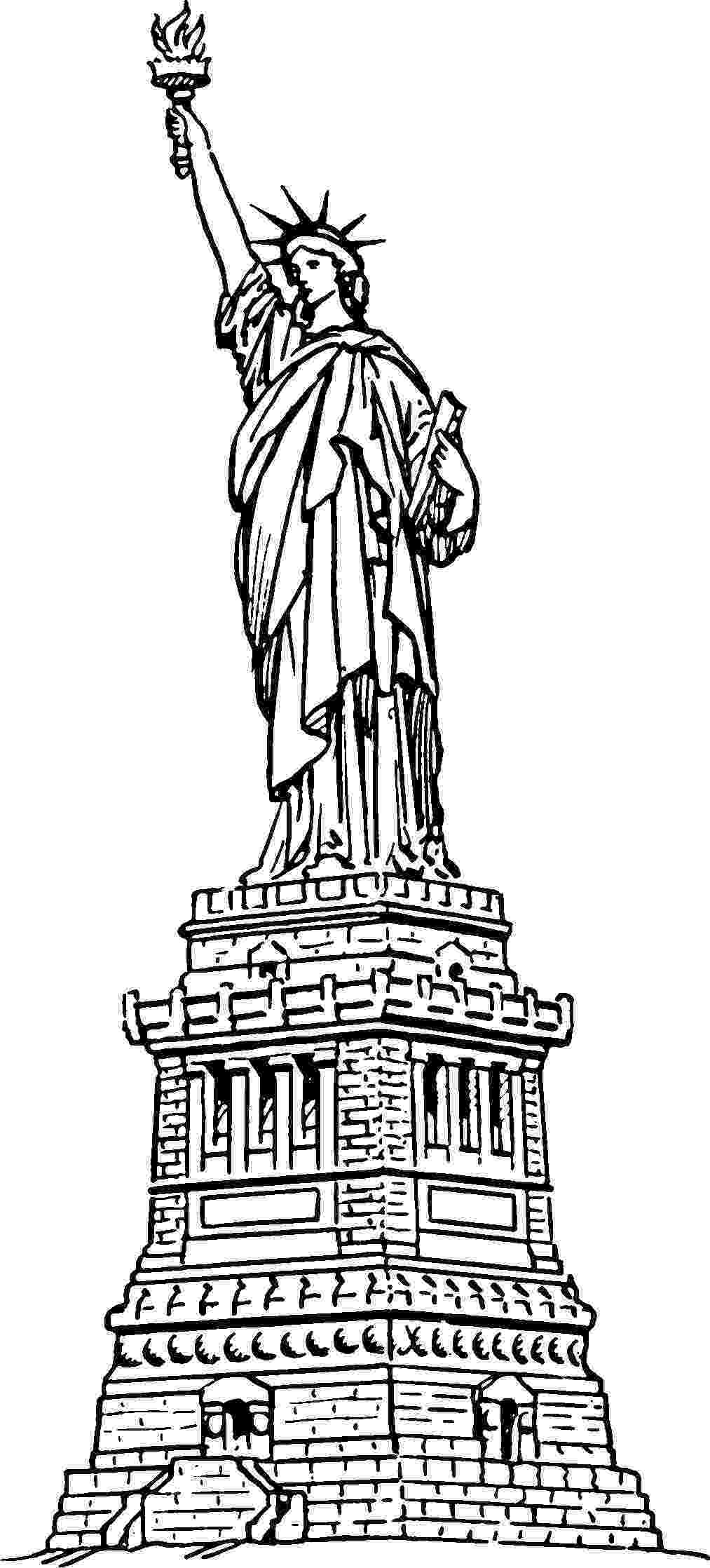 statue of liberty coloring page statue of liberty picture coloring page download print coloring liberty of statue page