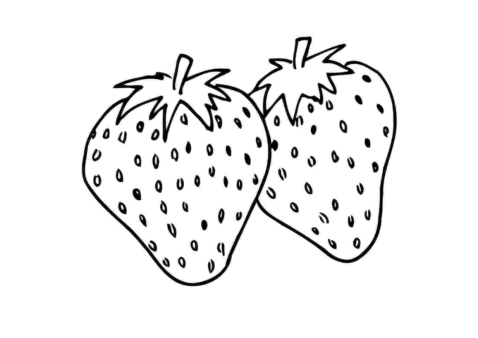 strawberry colouring page free coloring pages printable strawberry coloring pages strawberry colouring page