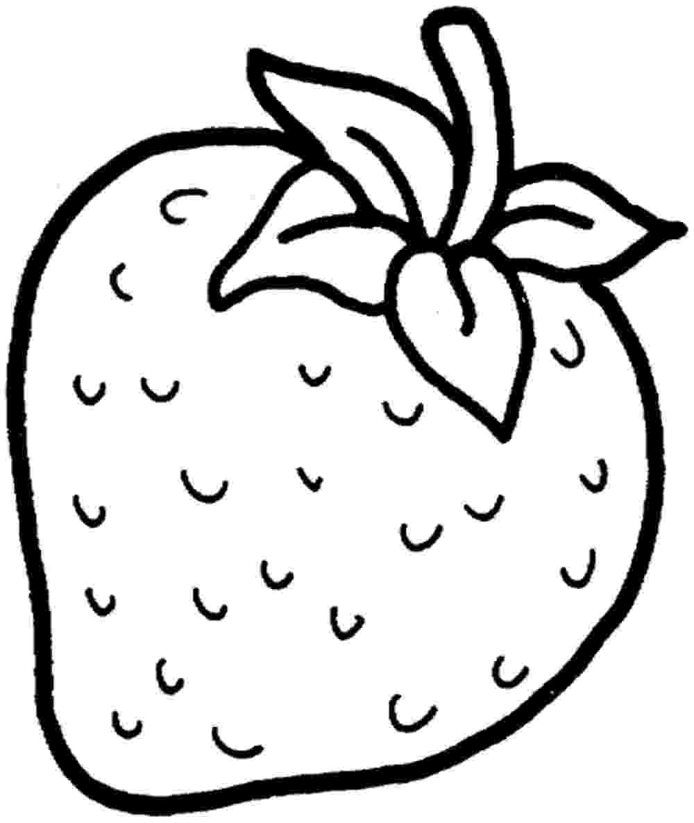 strawberry colouring page strawberry drawing at getdrawingscom free for personal page colouring strawberry
