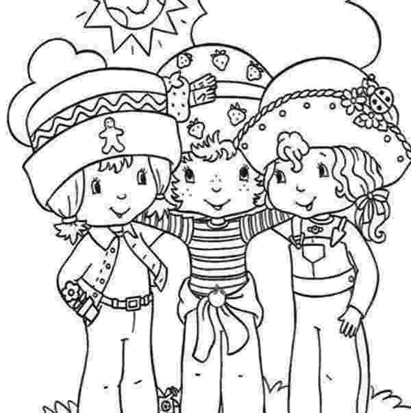 strawberry shortcake and friends coloring pages original strawberry shortcake coloring page shortcake coloring pages and strawberry friends