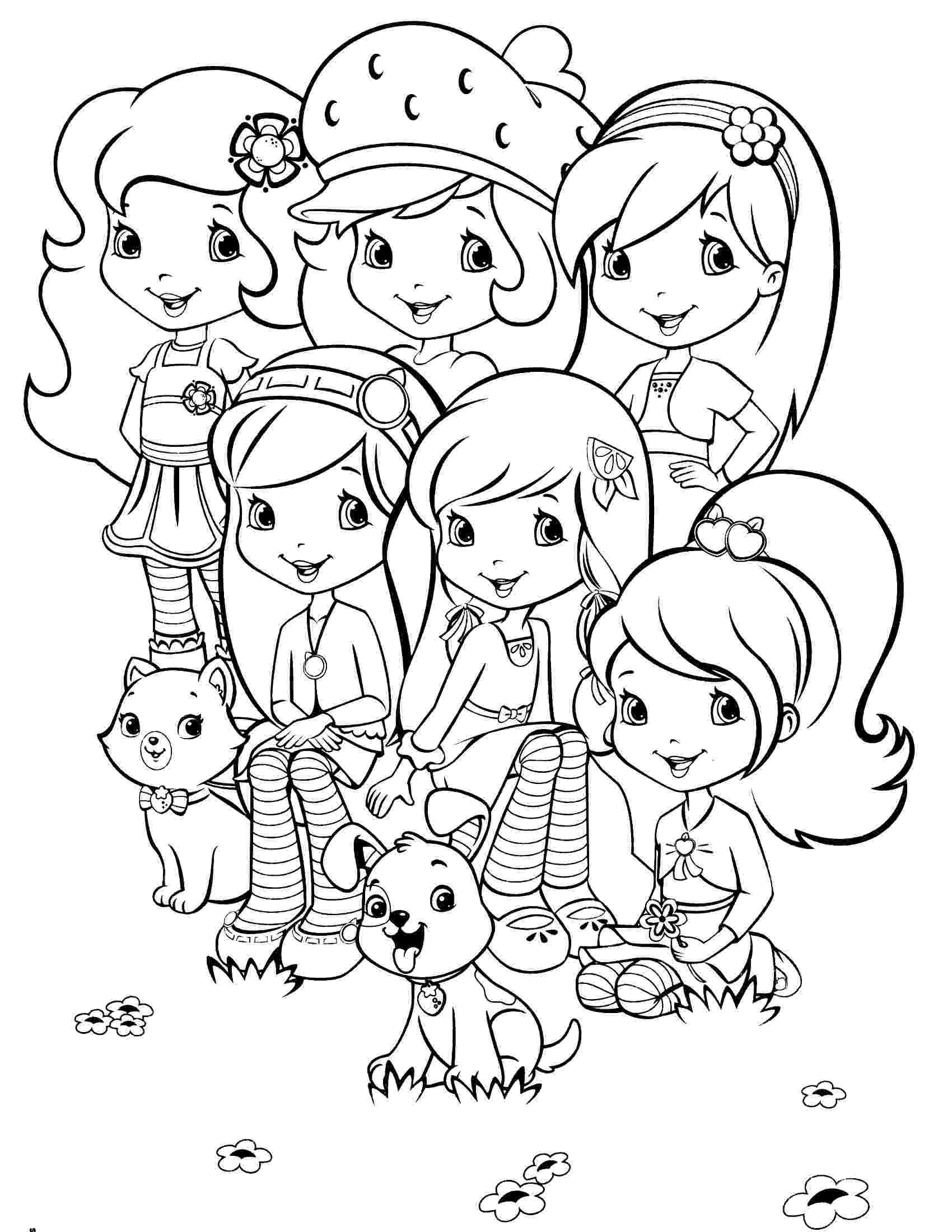 strawberry shortcake and friends coloring pages strawberry and cherry coloring page coloring pages friends shortcake coloring strawberry pages and
